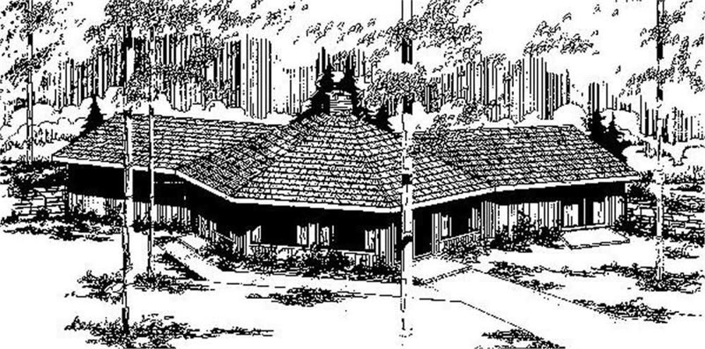 Contemporary home (ThePlanCollection: Plan #145-1701)