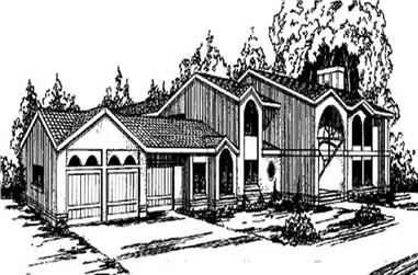5-Bedroom, 5070 Sq Ft In-Law Suite House Plan - 145-1702 - Front Exterior