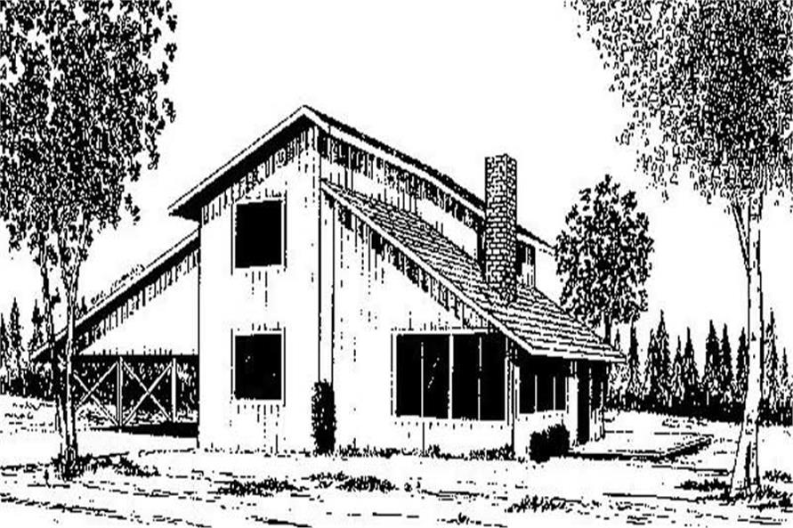 Contemporary home (ThePlanCollection: Plan #145-1705)