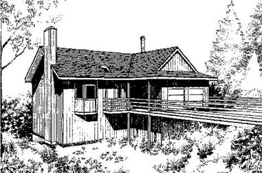 3-Bedroom, 902 Sq Ft Farmhouse Home Plan - 145-1710 - Main Exterior