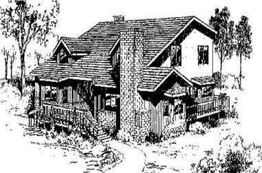 3-Bedroom, 2361 Sq Ft Country Home Plan - 145-1715 - Main Exterior