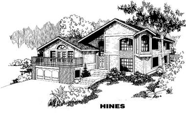 3-Bedroom, 1951 Sq Ft Contemporary House Plan - 145-1718 - Front Exterior