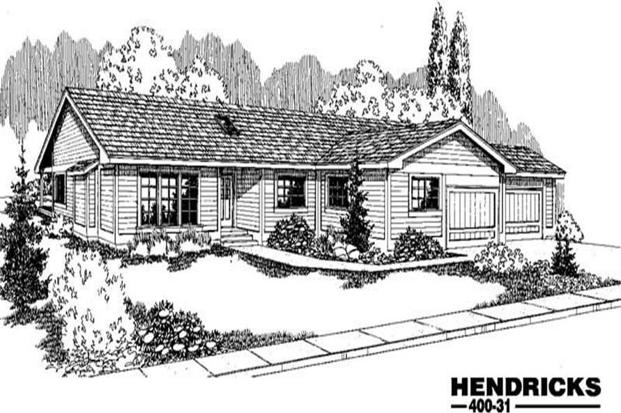 3-Bedroom, 1598 Sq Ft Ranch House Plan - 145-1720 - Front Exterior