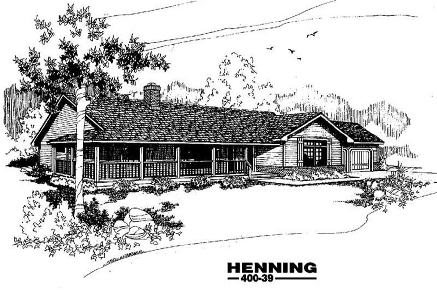 Main image for house plan # 3861