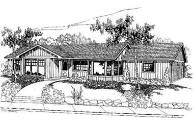 2-Bedroom, 1947 Sq Ft Log Cabin House Plan - 145-1722 - Front Exterior