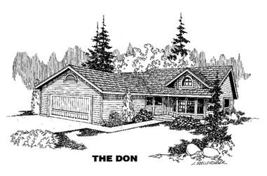3-Bedroom, 1502 Sq Ft Ranch House Plan - 145-1726 - Front Exterior