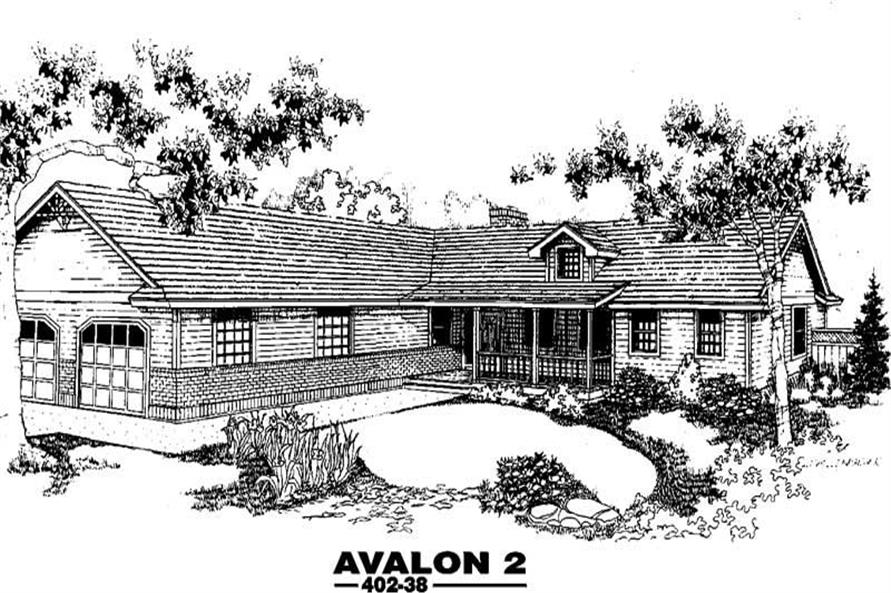 3-Bedroom, 1490 Sq Ft Ranch Home Plan - 145-1728 - Main Exterior