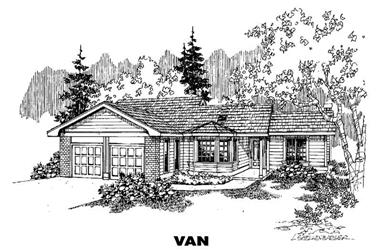 3-Bedroom, 1672 Sq Ft Ranch House Plan - 145-1730 - Front Exterior