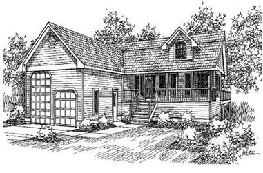 2-Bedroom, 2902 Sq Ft Ranch Home Plan - 145-1731 - Main Exterior