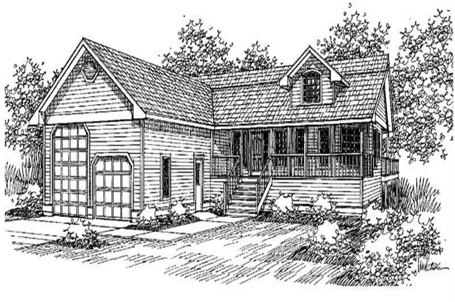 2-Bedroom, 2902 Sq Ft Ranch Home Plan - 145-1731 - Main Exterior