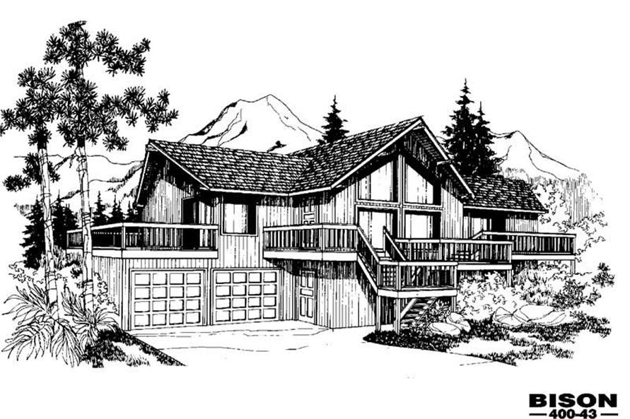 Main image for house plan # 3863