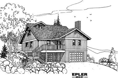 2-Bedroom, 1360 Sq Ft Country House Plan - 145-1738 - Front Exterior