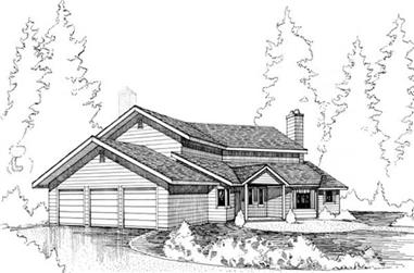 4-Bedroom, 4290 Sq Ft Contemporary Home Plan - 145-1740 - Main Exterior