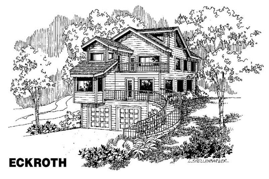 2-Bedroom, 2015 Sq Ft Contemporary Home Plan - 145-1741 - Main Exterior