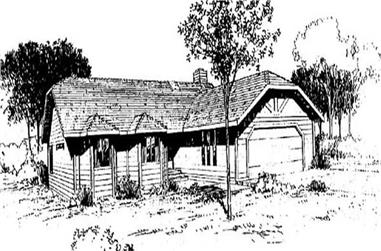 3-Bedroom, 1349 Sq Ft Ranch Home Plan - 145-1746 - Main Exterior