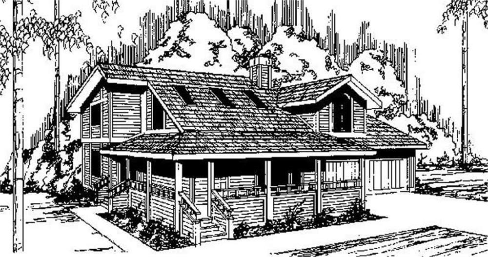 Contemporary home (ThePlanCollection: Plan #145-1747)