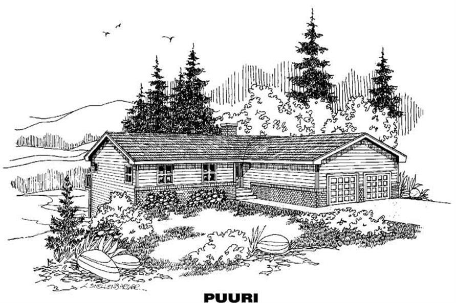 3-Bedroom, 3372 Sq Ft Luxury Home Plan - 145-1751 - Main Exterior