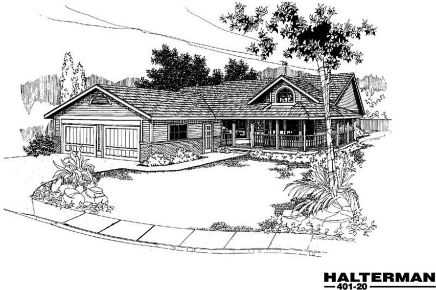 3-Bedroom, 1775 Sq Ft Home Plan - 145-1754 - Main Exterior