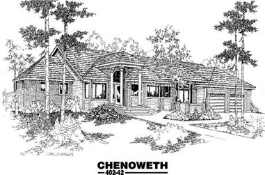 4-Bedroom, 3846 Sq Ft Ranch House Plan - 145-1755 - Front Exterior
