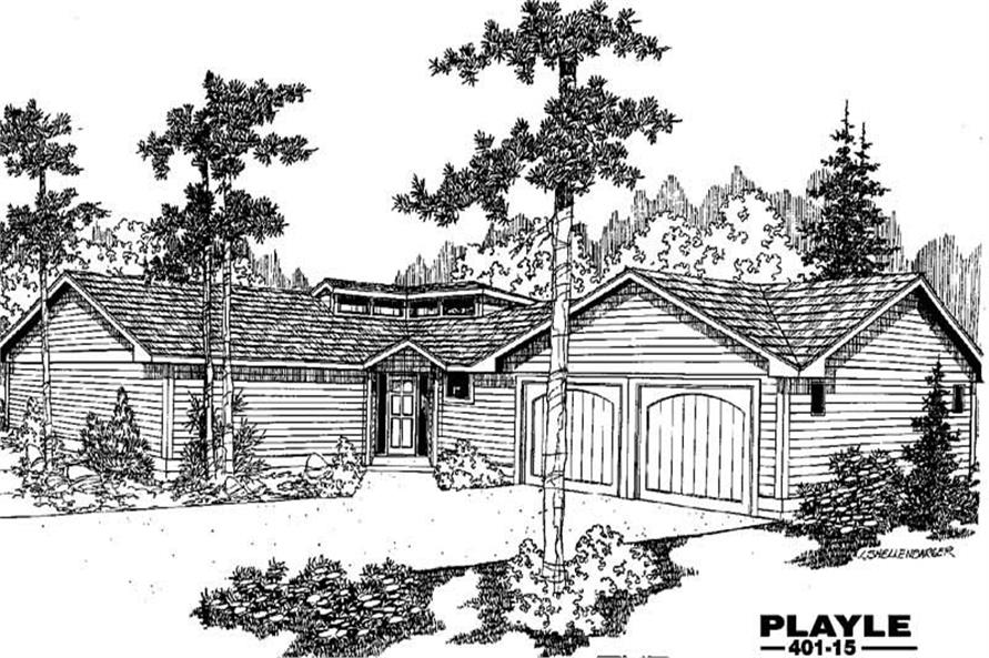 Main image for house plan # 3892