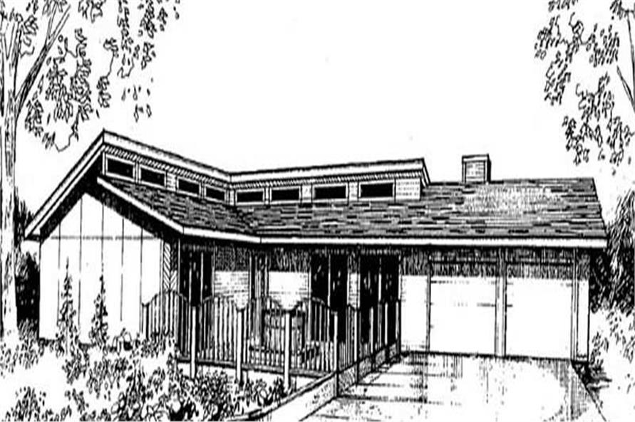 2-Bedroom, 1728 Sq Ft Contemporary Home Plan - 145-1760 - Main Exterior
