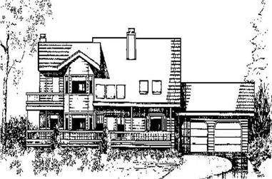 4-Bedroom, 2078 Sq Ft Farmhouse Home Plan - 145-1763 - Main Exterior