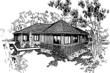 3-Bedroom, 2193 Sq Ft Vacation Homes Home Plan - 145-1765 - Main Exterior