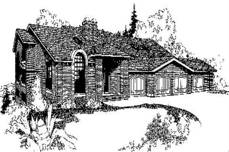 4-Bedroom, 7673 Sq Ft Luxury House Plan - 145-1766 - Front Exterior
