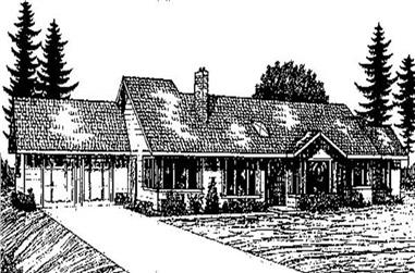 3-Bedroom, 2738 Sq Ft Contemporary Home Plan - 145-1767 - Main Exterior