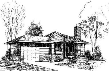 2-Bedroom, 1309 Sq Ft Contemporary Home Plan - 145-1770 - Main Exterior