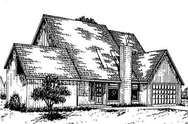 4-Bedroom, 2804 Sq Ft Traditional House Plan - 145-1771 - Front Exterior