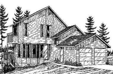 3-Bedroom, 1702 Sq Ft Contemporary House Plan - 145-1772 - Front Exterior