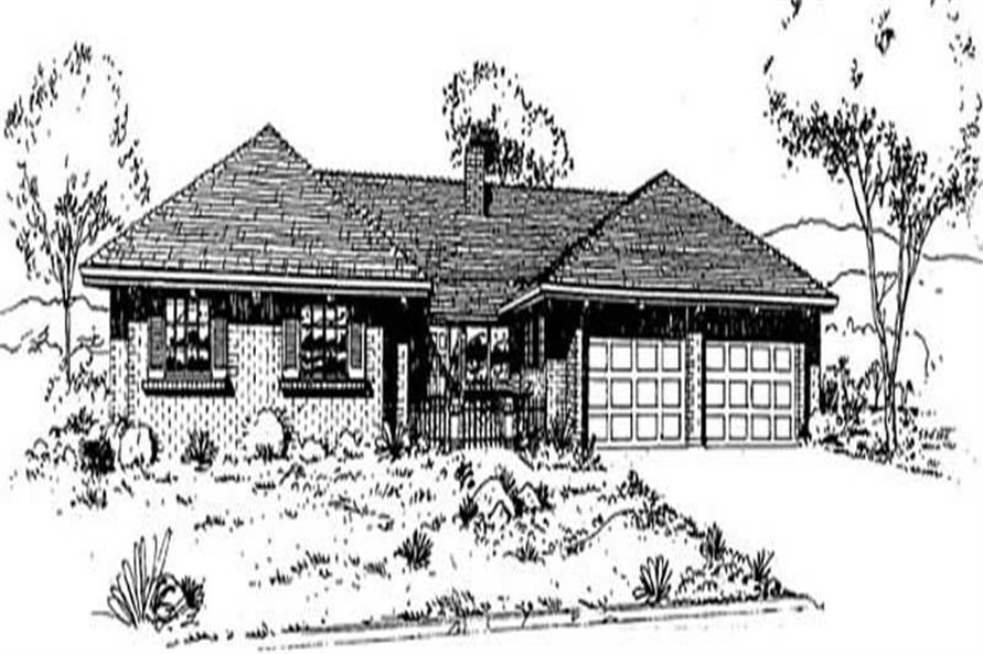 3-Bedroom, 1860 Sq Ft Ranch Home Plan - 145-1774 - Main Exterior