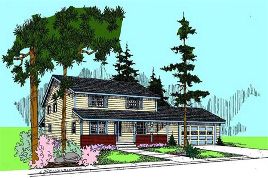 4-Bedroom, 2096 Sq Ft Contemporary House Plan - 145-1778 - Front Exterior