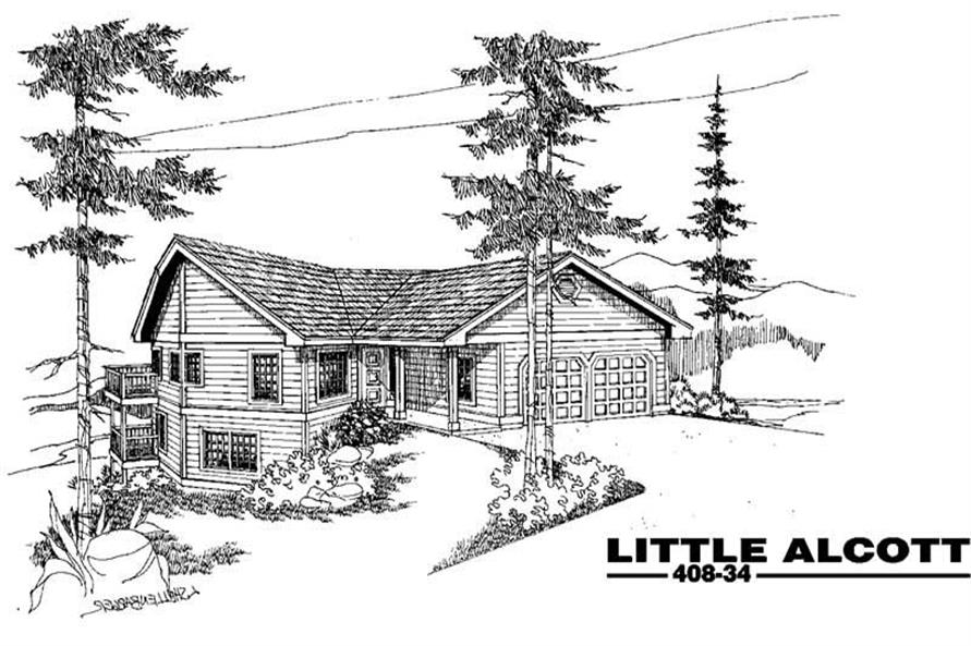 Main image for house plan # 9078