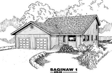 3-Bedroom, 2124 Sq Ft Contemporary Home Plan - 145-1780 - Main Exterior