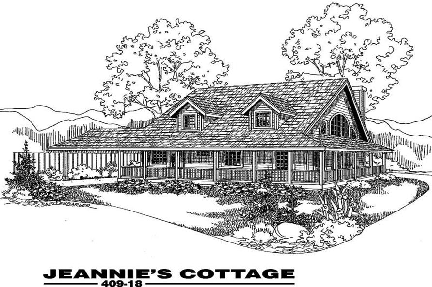 2-Bedroom, 1432 Sq Ft Farmhouse Home Plan - 145-1782 - Main Exterior