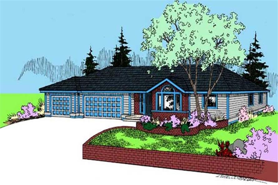 3-Bedroom, 1696 Sq Ft Contemporary House Plan - 145-1783 - Front Exterior