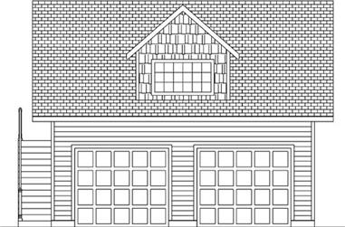 1-Bedroom, 672 Sq Ft Garage Home Plan - 145-1784 - Main Exterior