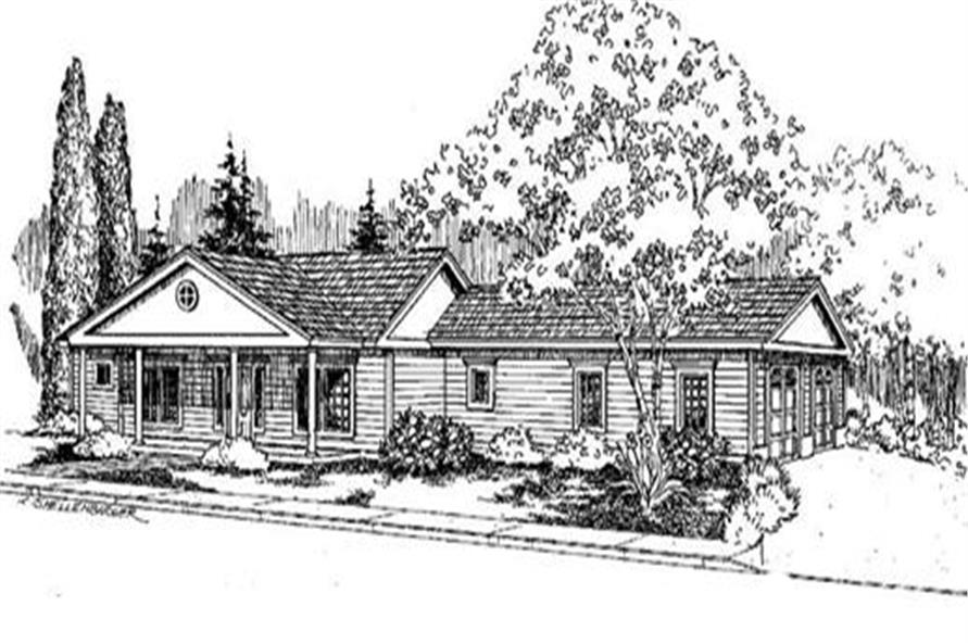 3-Bedroom, 2045 Sq Ft Colonial House Plan - 145-1788 - Front Exterior