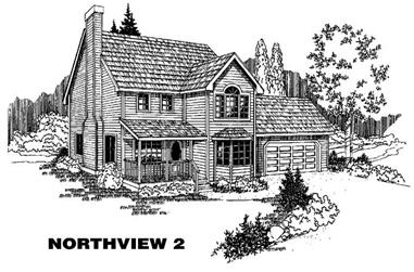 3-Bedroom, 1848 Sq Ft Country House Plan - 145-1790 - Front Exterior