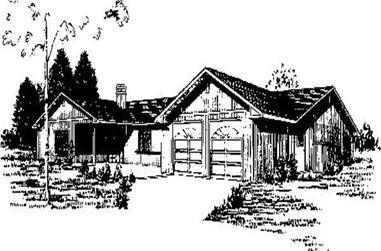 3-Bedroom, 1988 Sq Ft Ranch Home Plan - 145-1791 - Main Exterior