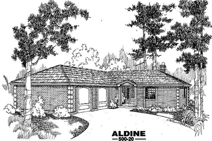 3-Bedroom, 3602 Sq Ft Country House Plan - 145-1794 - Front Exterior