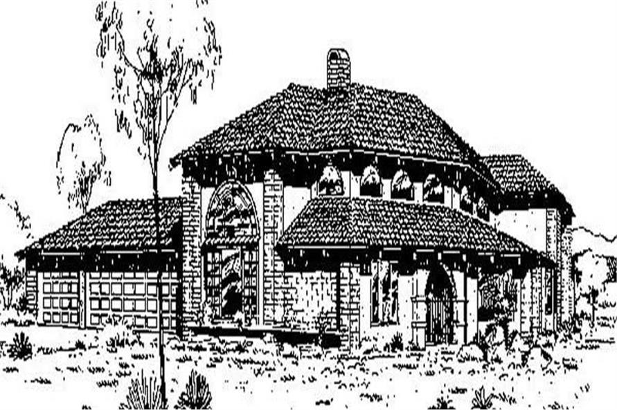 Main image for house plan # 8993