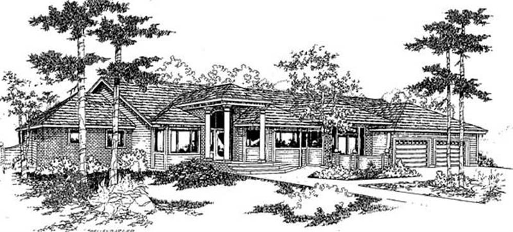 Colonial home (ThePlanCollection: Plan #145-1800)