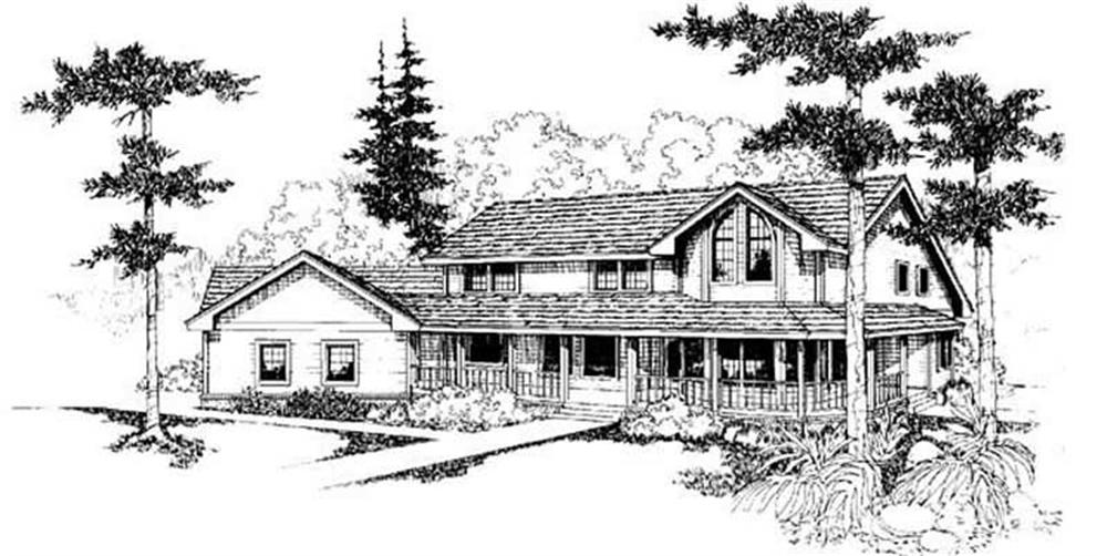Country home (ThePlanCollection: Plan #145-1801)