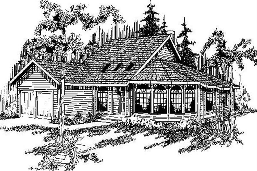 Main image for house plan # 9147