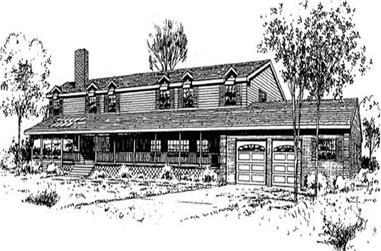 4-Bedroom, 3368 Sq Ft Ranch Home Plan - 145-1805 - Main Exterior