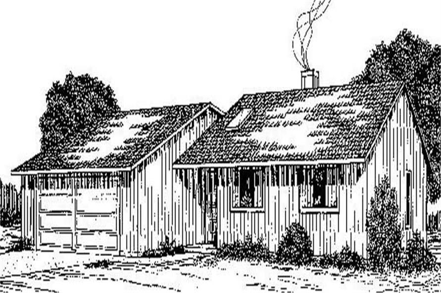 Main image for house plan # 8937