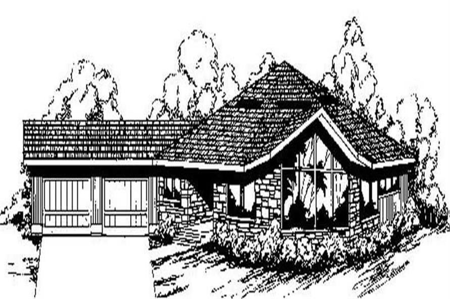 3-Bedroom, 2282 Sq Ft Contemporary Home Plan - 145-1822 - Main Exterior